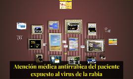 Atención médica antirrábica del paciente expuesto al virus d