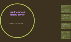 simple past and present perfect