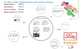 Copy of Eli Lilly in India: Rethinking the joint venture strategy
