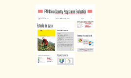 IFAD China Country Programme Evaluation