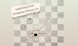 Leadership Series Power and Persuasion In the Interview and On The Job