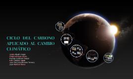 CICLO DEL CARBONO APLICADO AL CAMBIO CLIMÁTICO