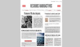 RESIDUOS RADIOACTIVOS, PALOMARES TRAS 50 AÑOS