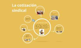 La cotizacion sindical