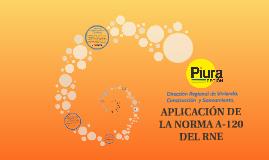 APLICACIÓN DE LA NORMA A-120 DEL RNE