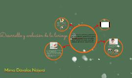 Desarrollo y evolución de la laringe