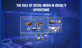 The Role of Social Media in Israel's Operations