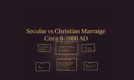 Secular vs Religious Marriage