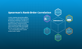 Spearman's Rank-Order Correlation