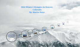 2026 Winter Olympics in Denver, Colorado
