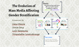 The Evolution of Mass Media Affecting Gender Stratification