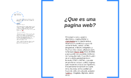 ¿Que es una pagina web?