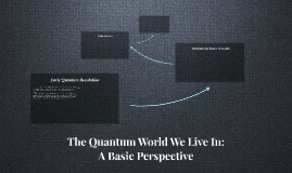 The Quantum World We Live In: A Basic Perspective