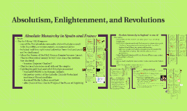 Absolutism, Enlightenment, and Revolutions