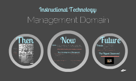 Instructional Technology Management Domain