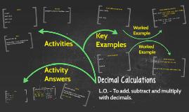 Decimal Calculations