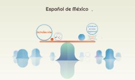 Español de mexico