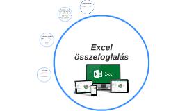 Excel összefoglalás