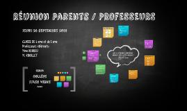 Réunion parents / PROFESSEURS