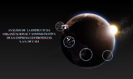 ANALISIS DE  LA ESTRUCTURA ORGANIZACIONAL Y ADMINISTRATIVA D
