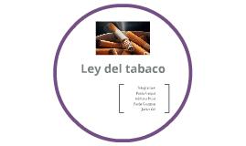 Ley del tabaco