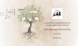 CONFORT DE TEMPERATURAS EN MEDIOS ARQUITECTONICOS