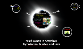 Food waste in the U.S!
