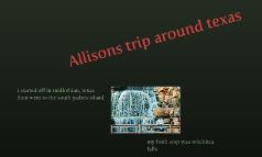 Allisons trip around texas
