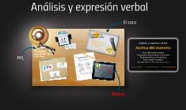 Análisis y expresión verbal