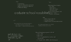Graduate School Possibilities