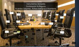 instrumentos derivados, combinacion de negocios y acuerdos conjuntos
