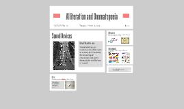 Alliteration and Onomatopoeia