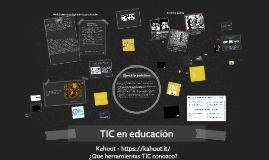 TIC en la educación