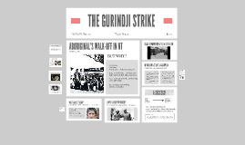 THE GURINDJI STRIKE