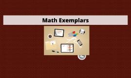 Math Exemplars