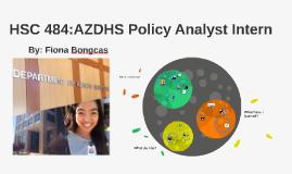 HSC 484:AZDHS Policy Anaylst Intern