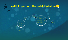 Health Effects of Ultraviolet Radiation