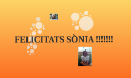 FELICITATS SONIA