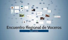 Encuentro Regional de Voceros