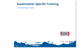 Scoutmaster Specific Training