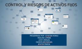 CONTROL Y RIESGOS DE ACTIVOS FIJOS