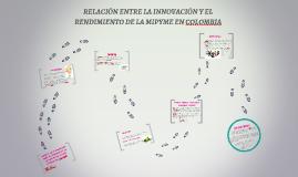 RELACIÓN ENTRE LA INNOVACIÓN Y EL RENDIMIENTO DE LA MIPYME E