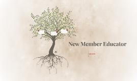 New Member Educator