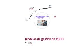 Modelo de gestión de RRHH de alta