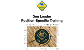 Copy of The Den Leader Position-Specific Training course
