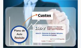 Sistemas e Métodos de Custos & Formação de Preços