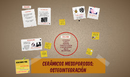 CERÁMICOS MESOPOROSOS: OSTEOINTEGRACIÓN