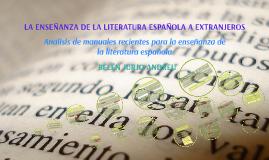 Literatura ELE