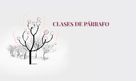 CLASES DE PARRAFO