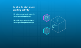 Copy of Be able to plan a safe sporting activity